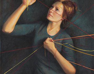 """""""Threads"""" Pastel, 40 x 30″"""
