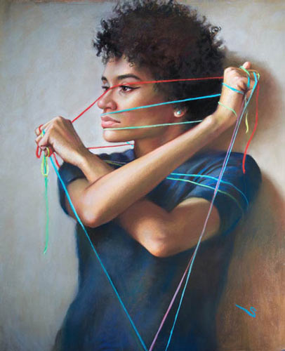 """Bound""<br /><span style=""font-size:smaller;"">""Art of the Pastel"" Southeast Texas National Exhibition. </span>"