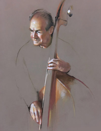 """Bass"" pastel, 20 x 16""<br /><span style=""font-size:smaller;""></span>"