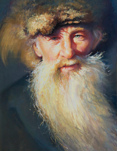 """Indigent"" Pastel, 21 x 13""<br /><span style=""font-size:smaller;"">Pasit Pastellist International, Tivoli Italy Second Place Pastel 100, PSA International ""Bold Brush Outstanding Pastel Award"" 2018</span>"