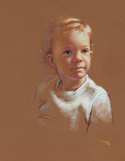 """Toddler"" pastel 20 x 16""<br /><span style=""font-size:smaller;""></span>"